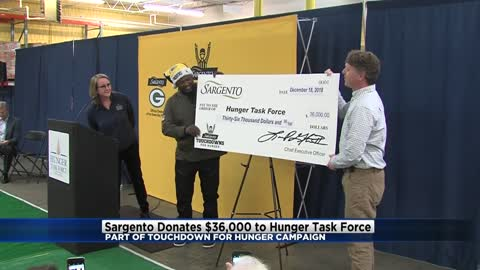 Sargento donates $36,000 to Hunger Task Force as part of Touchdowns...