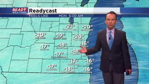 Sunday Update: Wind chill advisory issued for all of southeast Wisconsin Sunday night