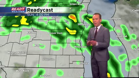 Scattered rain and storms likely Sunday