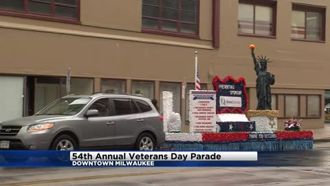 Veterans Day Parade in Milwaukee met with sparse attendance, organizers and participants say it's not about counting spectators