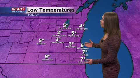 Next chance for rain and snow arrives Monday afternoon