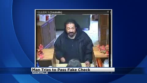 Saukville Police searching for man who tried to pass fake check