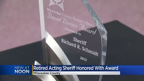 Retired Acting Sheriff Schmidt honored with award by MCSO