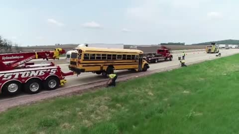 Dispatch calls from crash involving school bus released