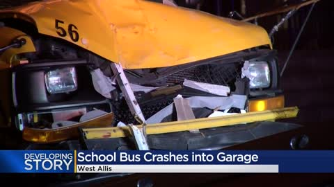 School bus with students on board crashes near 63rd and Lapham