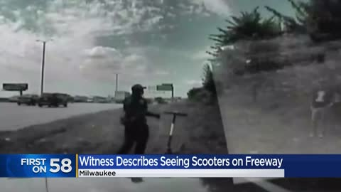 Dash camera video shows moments after three people were pulled...