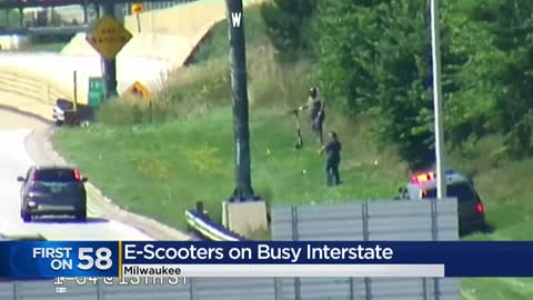 Three cited for riding scooters on I-94