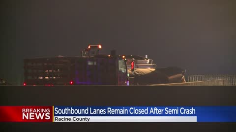 Racine County sheriff: Driver with suspended license causes crash involving 2 semis on I-94