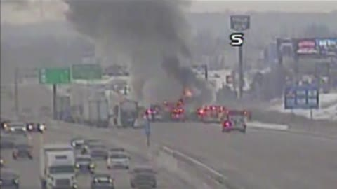 Semi truck catches fire on I-94 in Kenosha County