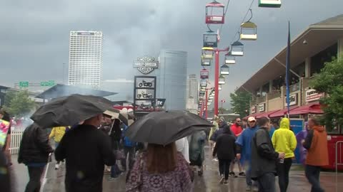 Summerfest gets off to a stormy start