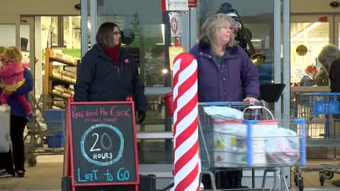 Sheboygan Salvation Army captain ringing bell for 24 hours straight