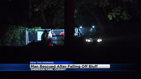 Man rescued after falling from bluff in Sheridan Park