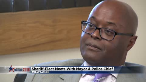 Milwaukee Sheriff-elect meets with mayor & police chief