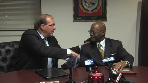 Sheriff Richard Schmidt prepares to pass the baton to Earnell Lucas