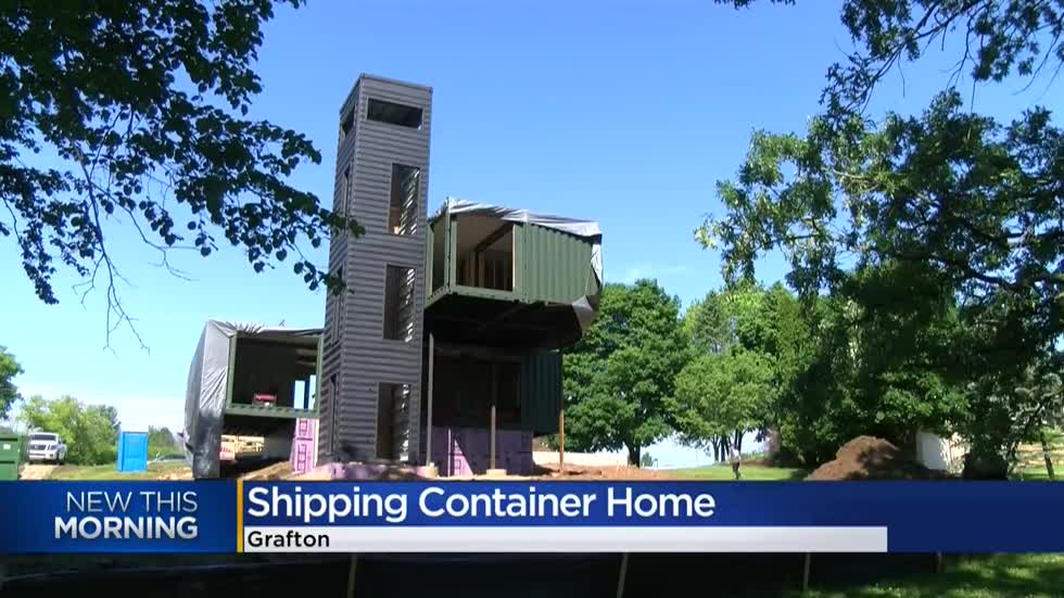 Shipping container home being built in Grafton