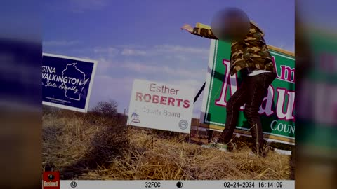 Kenosha County Board candidate says dozens of campaign signs...