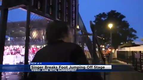 """Totally worth it:"" Summerfest performer shatters foot after diving off stage"