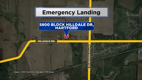 Small plane makes emergency landing in field near Hartford Municipal...