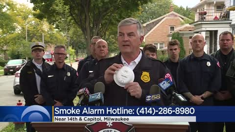 Milwaukee Fire Department hands out smoke detectors after deadly...