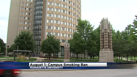 Marquette University campus goes smoke-free starting August 1st