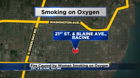 Racine fire warns people of smoking while on oxygen