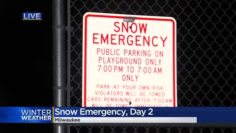 Approximately 3,800 snow emergency citations issued in Milwaukee