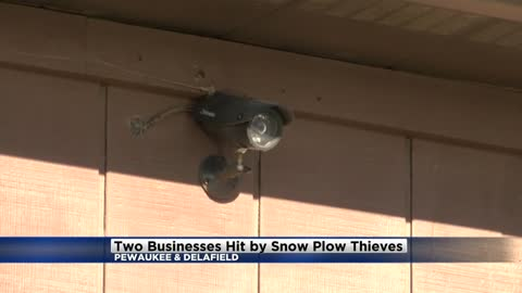 Two businesses hit by snow plow thieves in Waukesha County