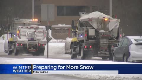 Public works departments prepare for weekend snowfall, storm