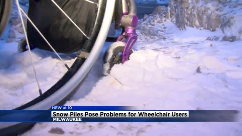 Snow, ice creates problems for wheelchair users in Milwaukee County