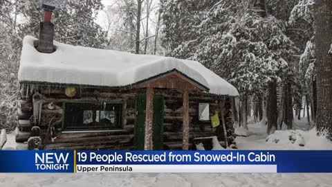 Snow traps Waukesha County family of 19 in cabin for days
