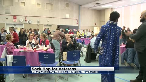 Sock Hop for Veterans held at Milwaukee VA Medical Center