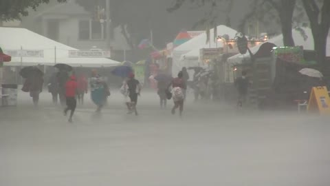 Soggy start to the Wisconsin State Fair