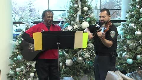 Hospital security staff give the gift of music