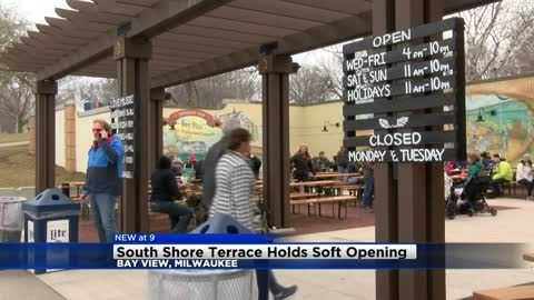 South Shore Terrace holds soft opening for beer garden