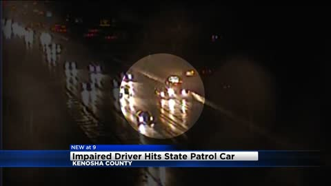 State Patrol squad hit in Kenosha County, no one seriously hurt