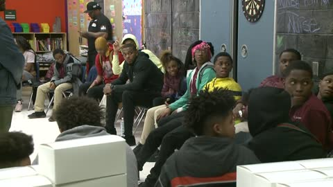Sterling Brown attends discussion with kids, teens on making good choices