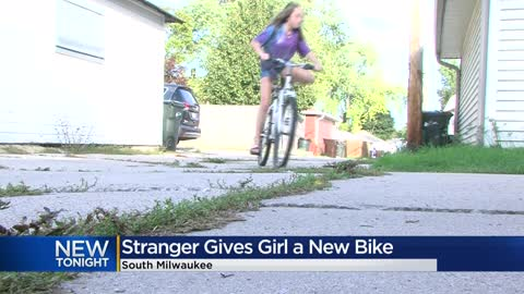 Mother's plea to find young daughter's stolen bike ended with a generous response