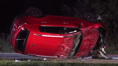 Stolen car crashes following overnight chase in Waukesha County