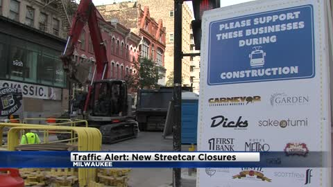New track work for the Milwaukee streetcar may impact your commute