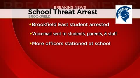 Student arrested after making threats involving gun to Brookfield East High School