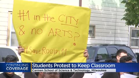Carmen High School of Science and Technology students continue protests for beloved Room 11
