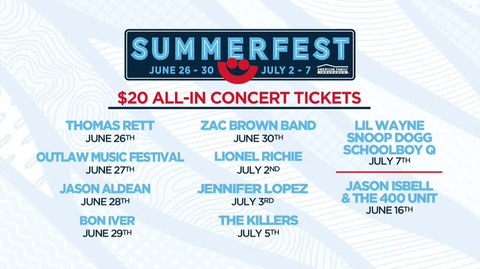 Summerfest offering $20 All-In tickets for some Summerfest