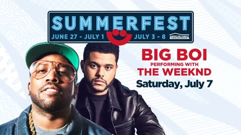 Big Boi to join The Weeknd at Summerfest, new artists added to lineup