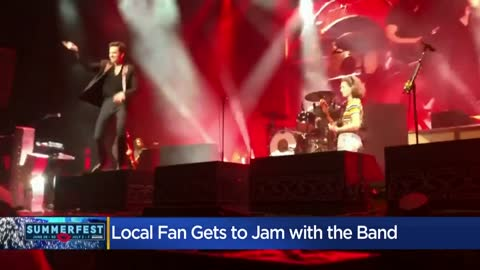 Milwaukee area woman pulled from Summerfest crowd to jam out with The Killers