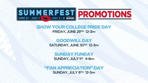 Summerfest daily admission promotions announced