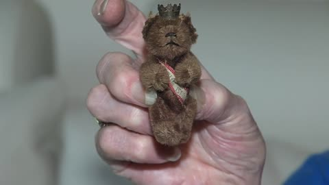 Keepsake teddy bear survives fire and wartime providing comfort for Beaver Dam resident