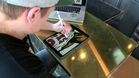 Bucks Inspired: fan artists along for NBA postseason ride