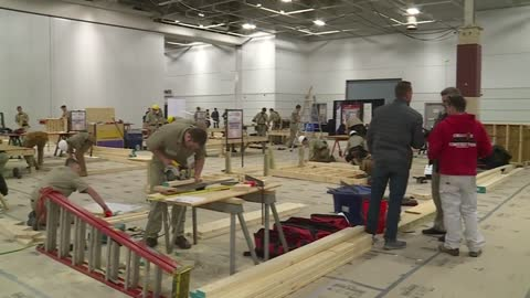 SkillsUSA Carpentry Challenge pits teen trade students against each other for a shot at worksite glory