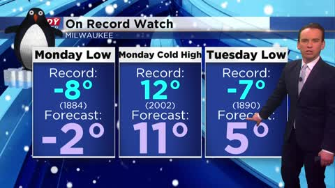 Wind chill advisory issued, records in jeopardy as cold air returns