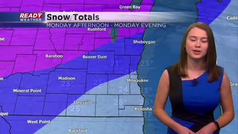 Snow to impact Monday afternoon commute